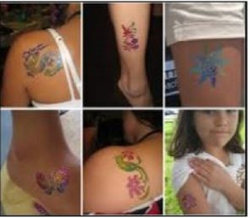 Body Glitter Tattoo