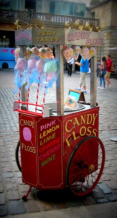 Carnival Cotton Candy Machine Cart