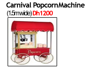 Carnival PopCorn Machine Cart
