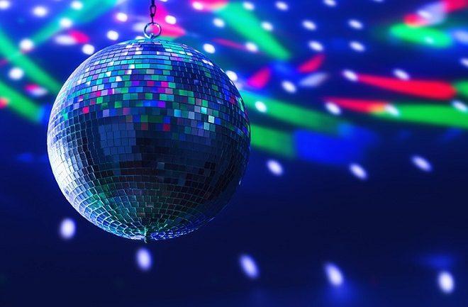 Disco ball, strobe lights, smoke machine