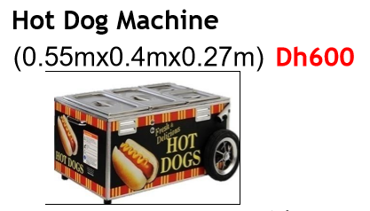 Hot Dog Machine Cart